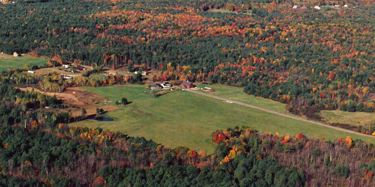 Aerial view of Branch Hill Farm