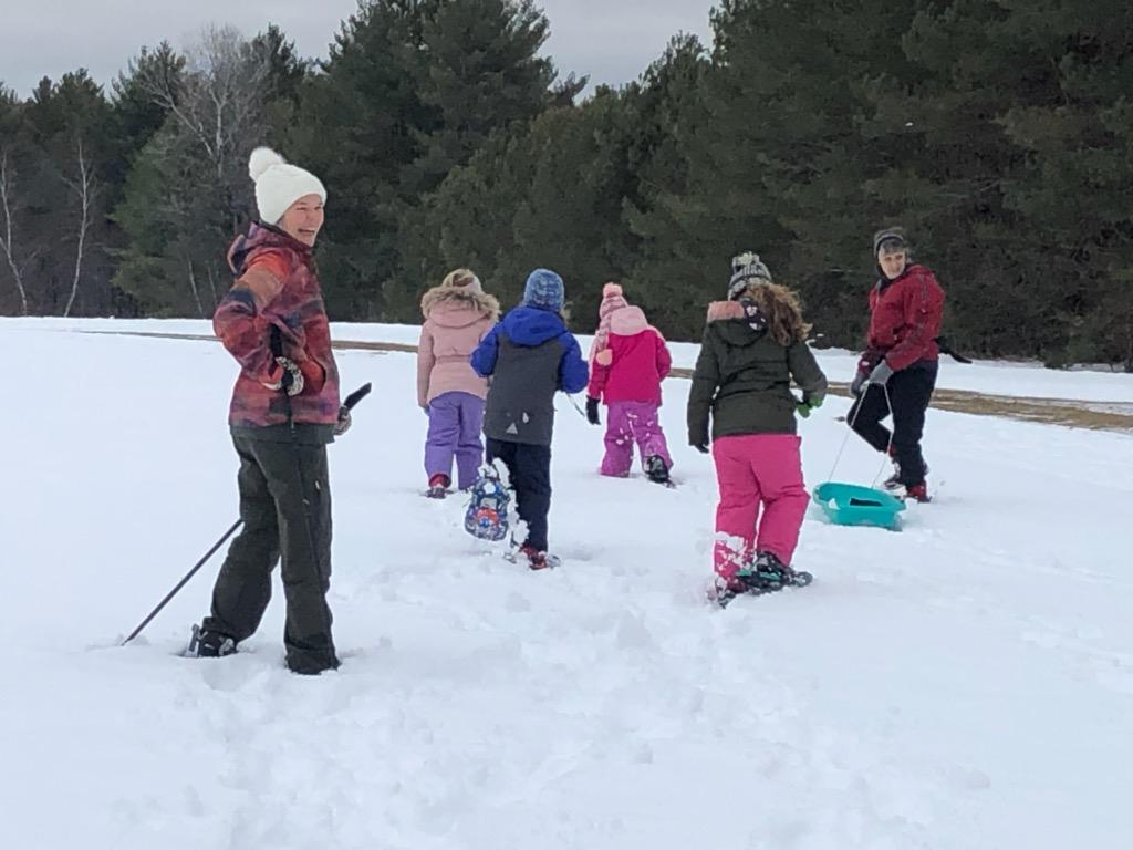 Snowshoe walk (Photo by Rachel Towne)